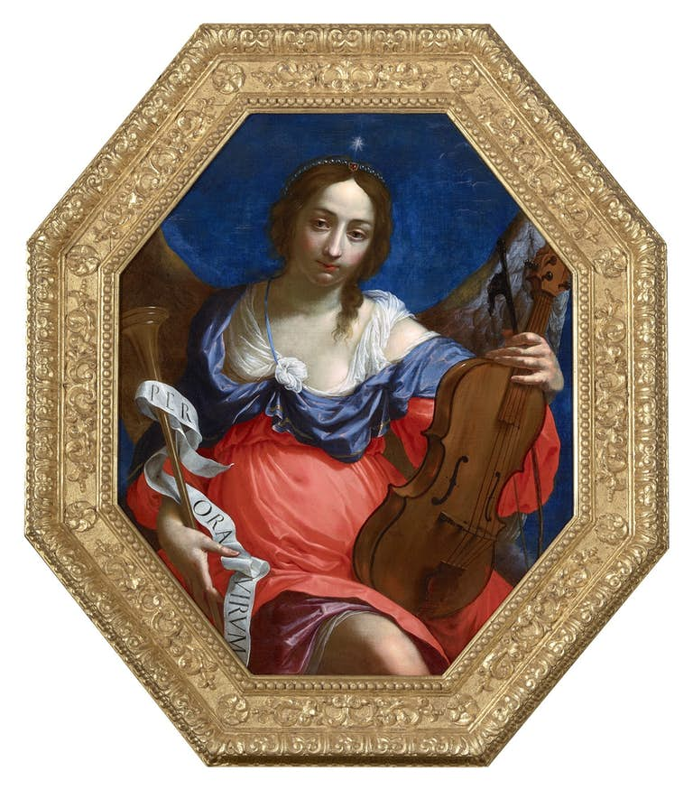 CESARE DANDINI (1596-1657)Allegory of musical fame, oil on canvas, The Haukohl Family Collection