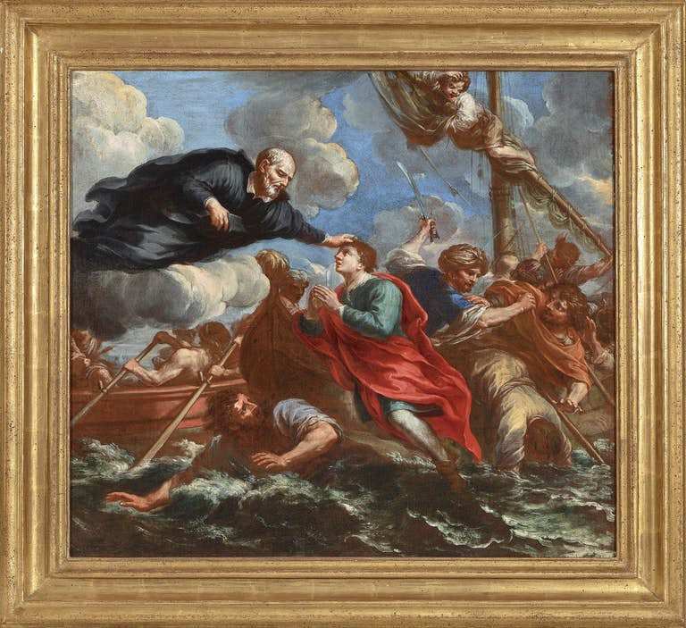 TOMMASO REDI (1665-1726) Saint Philip Neri and the miracle on the voyage to Naples, oil on canvas, The Haukohl Family Collection