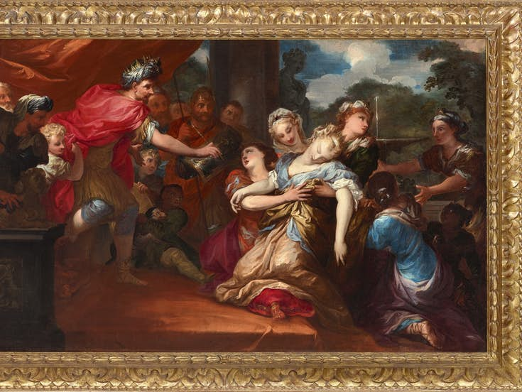 PIETRO DANDINI (1646-1712)Esther before Ahasuerus, oil on canvas, The Haukohl Family Collection